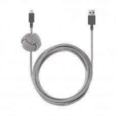 Câble de Nuit Native Union USB-C vers Lightning 10ft Zebra
