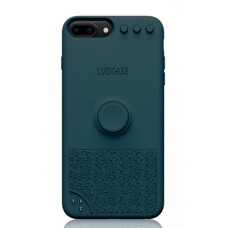 Coque amusante et interactive pour iPhone 6/7/8 Plus - Bleu jungle