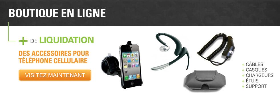 Boutique en ligne - Liquidation d'accessoires pour téléphone cellulaire