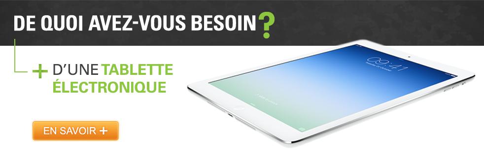 Tablettes électroniques, iPad et iPad Mini