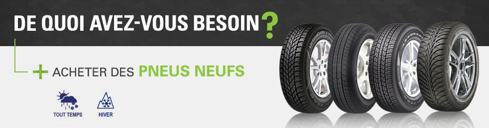 Achat de pneus neufs pas cher en ligne